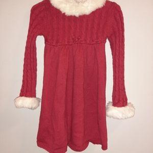 Vintage Gymboree Winter Snowflake Faux Fur Dress 2